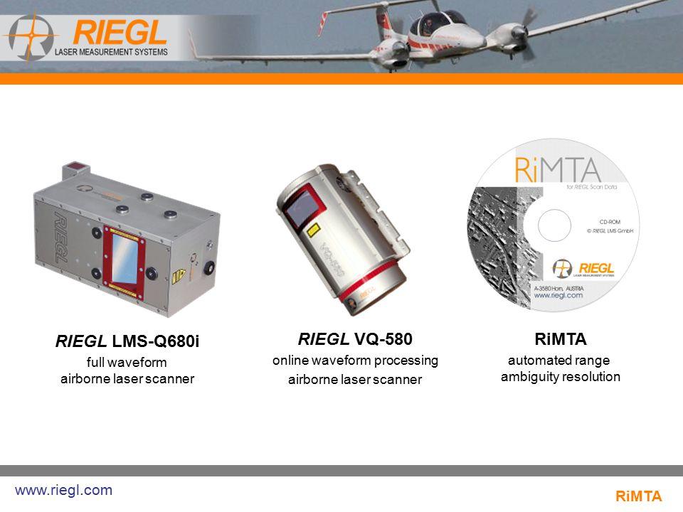 RIEGL LMS-Q680i RIEGL VQ-580 RiMTA