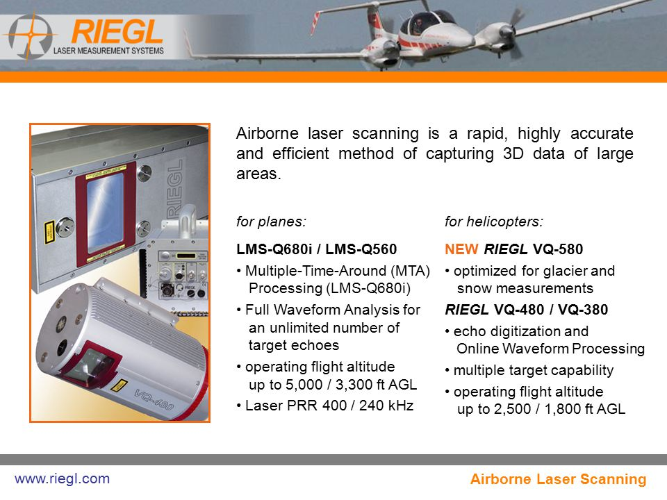 Airborne laser scanning is a rapid, highly accurate and efficient method of capturing 3D data of large areas.