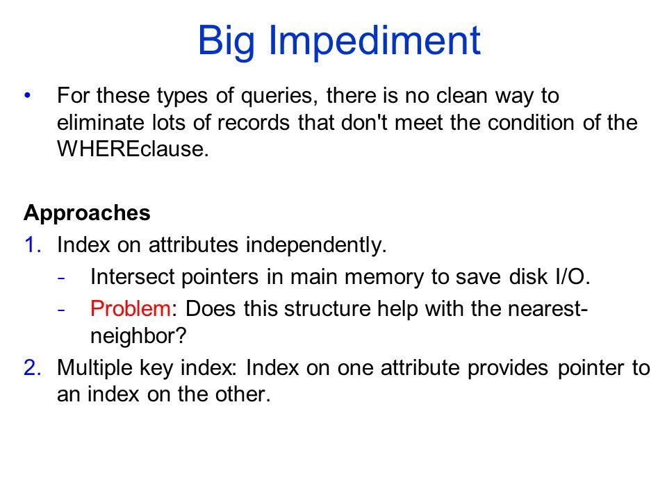 COMP 451/651 Big Impediment.