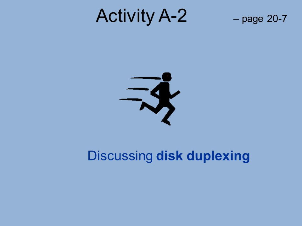 Discussing disk duplexing
