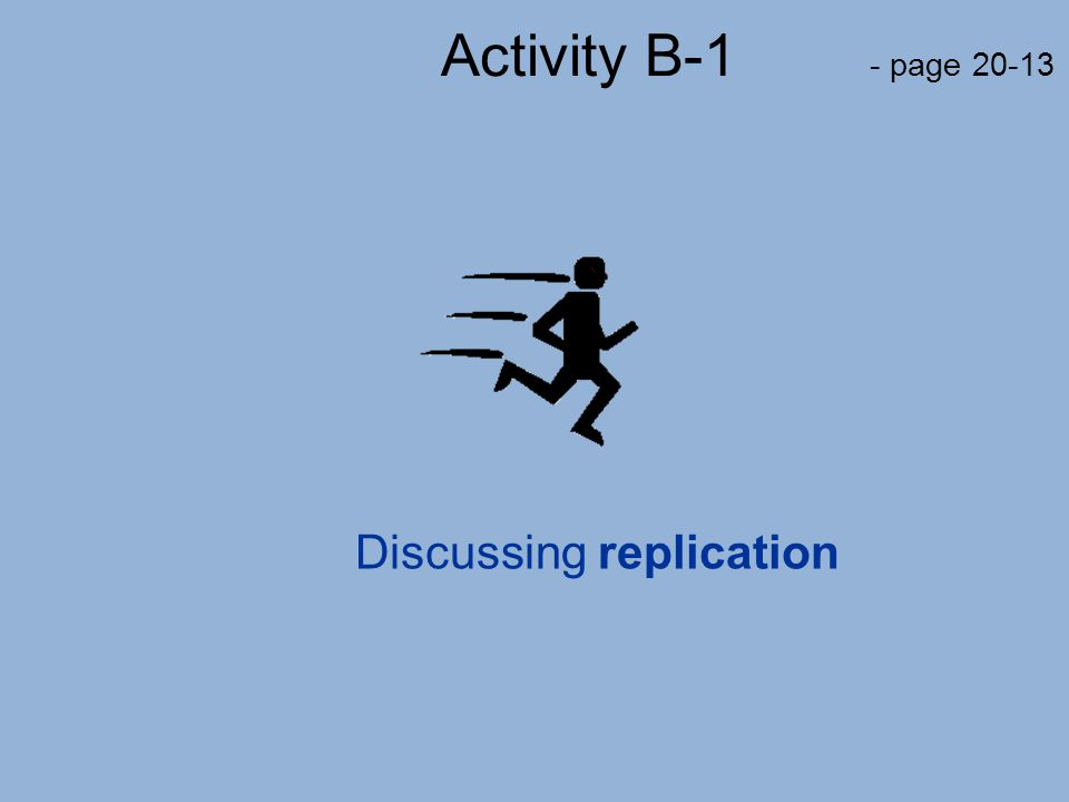 Discussing replication