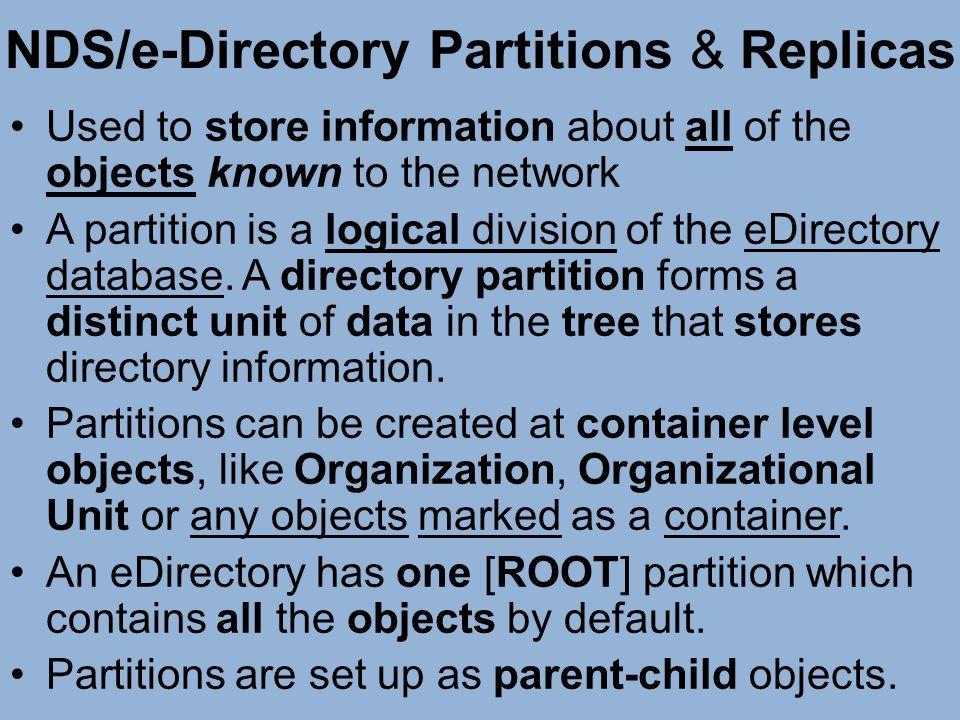NDS/e-Directory Partitions & Replicas