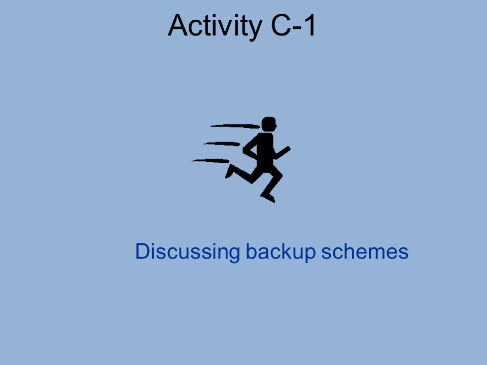 Discussing backup schemes