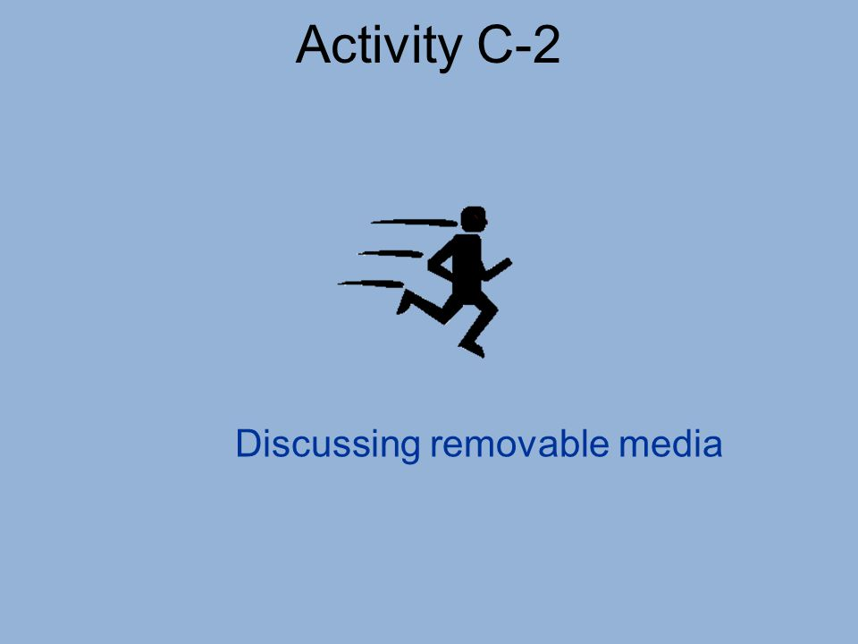 Discussing removable media