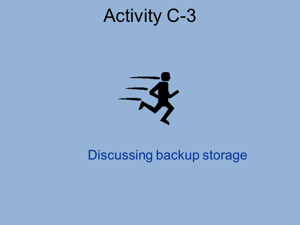 Discussing backup storage