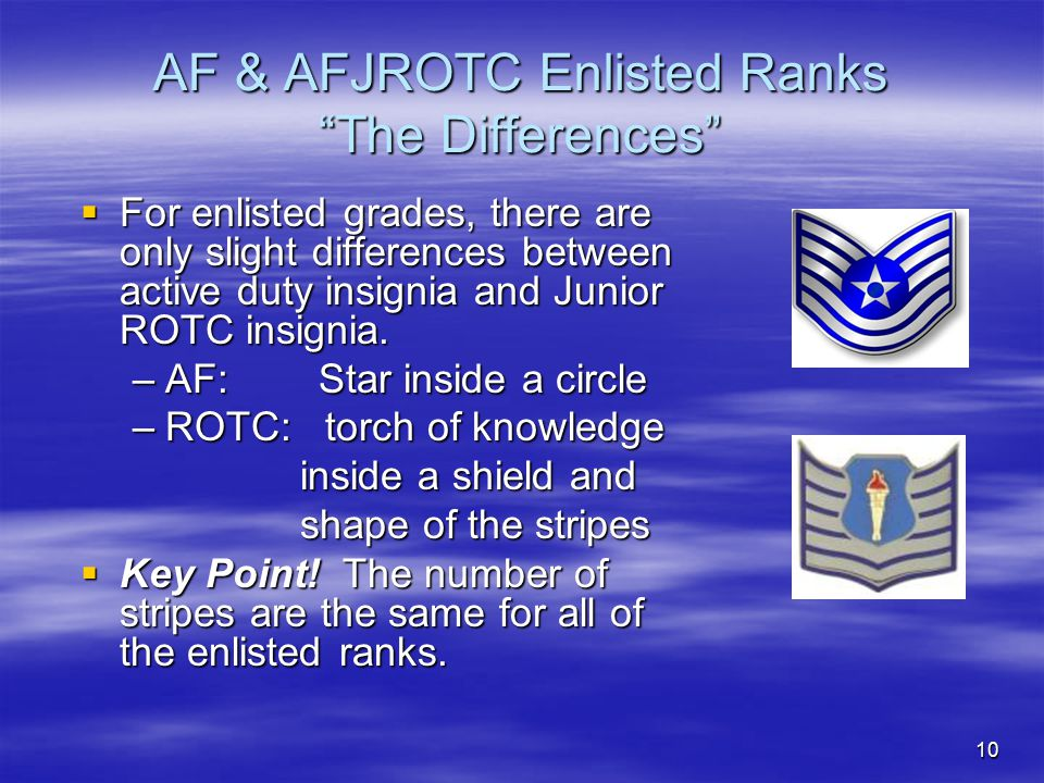 AF & AFJROTC Enlisted Ranks The Differences