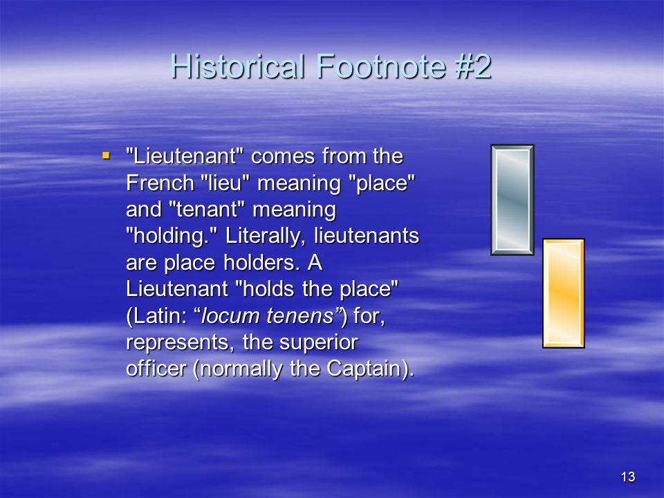 Historical Footnote #2