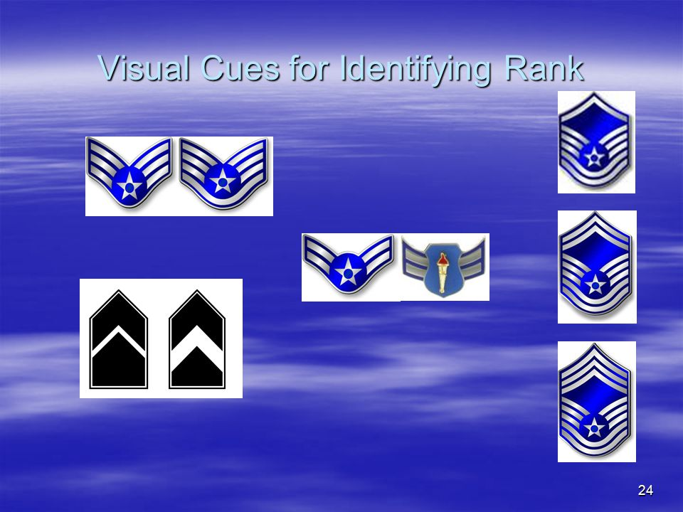 Visual Cues for Identifying Rank