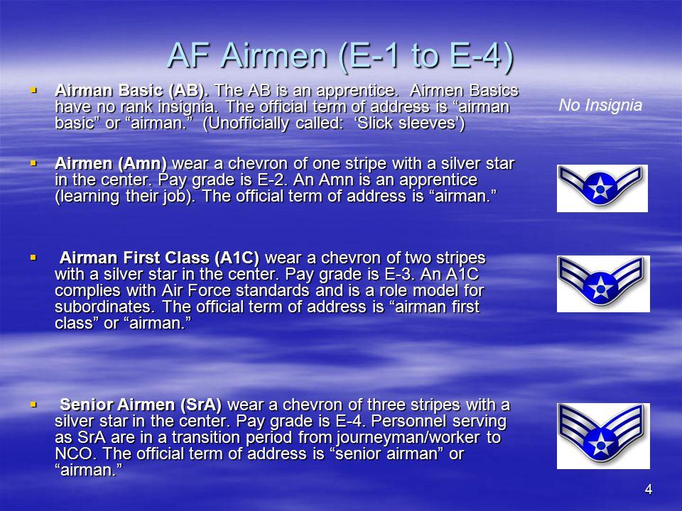 AF Airmen (E-1 to E-4)