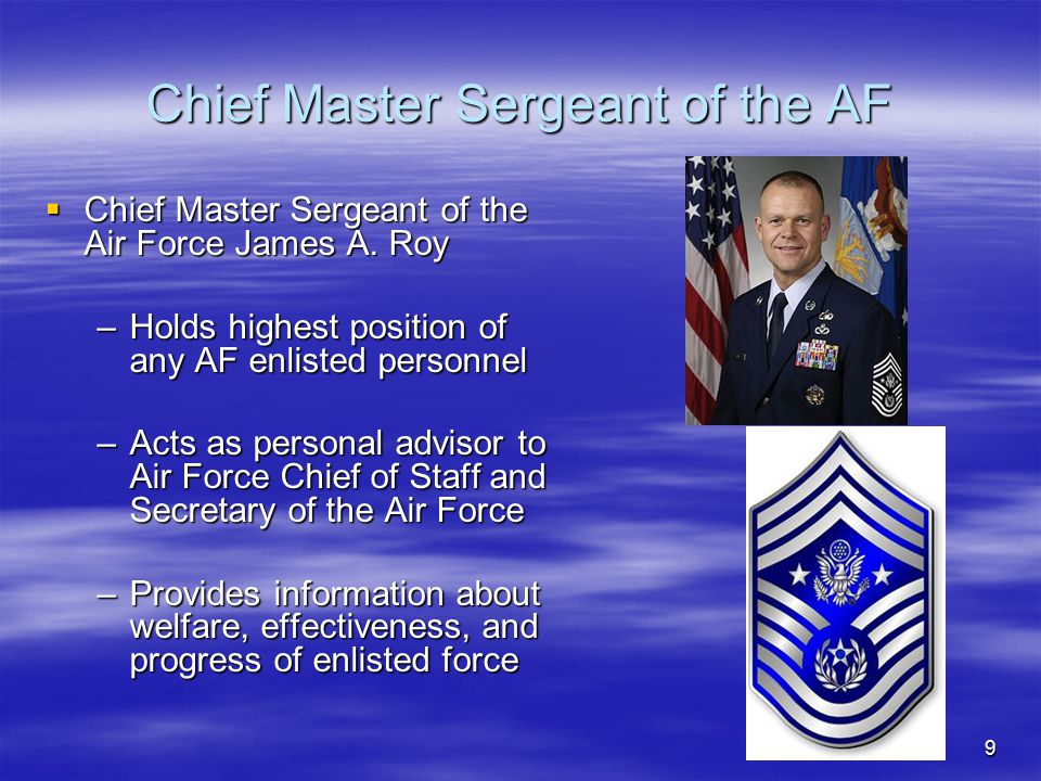 Chief Master Sergeant of the AF