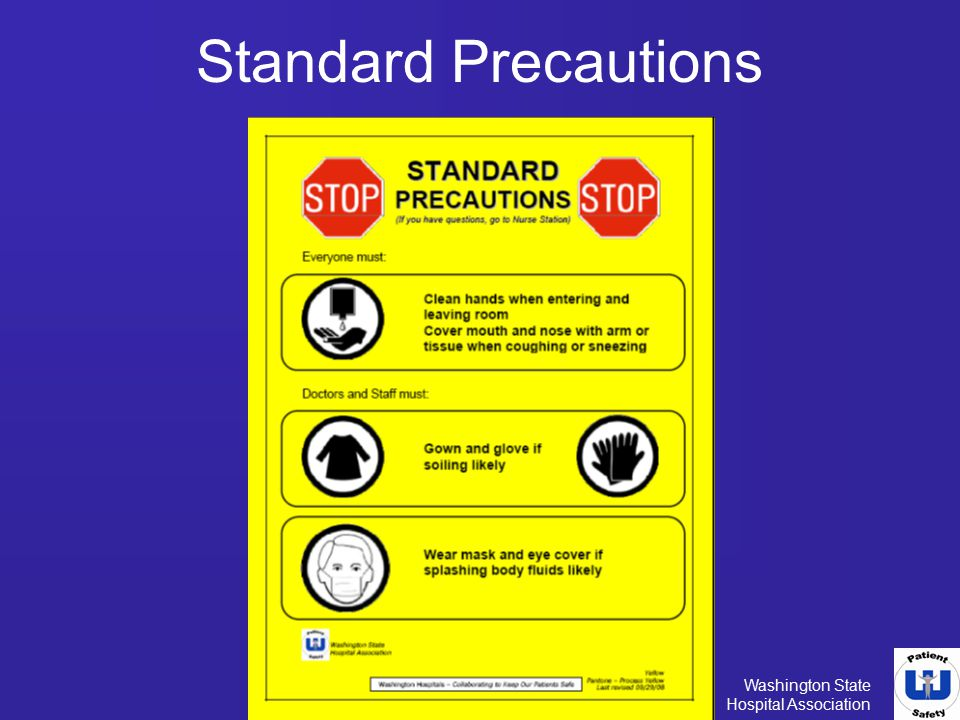 Standard Precautions Standard precautions is the basic level of care to be used on all patients all of the.
