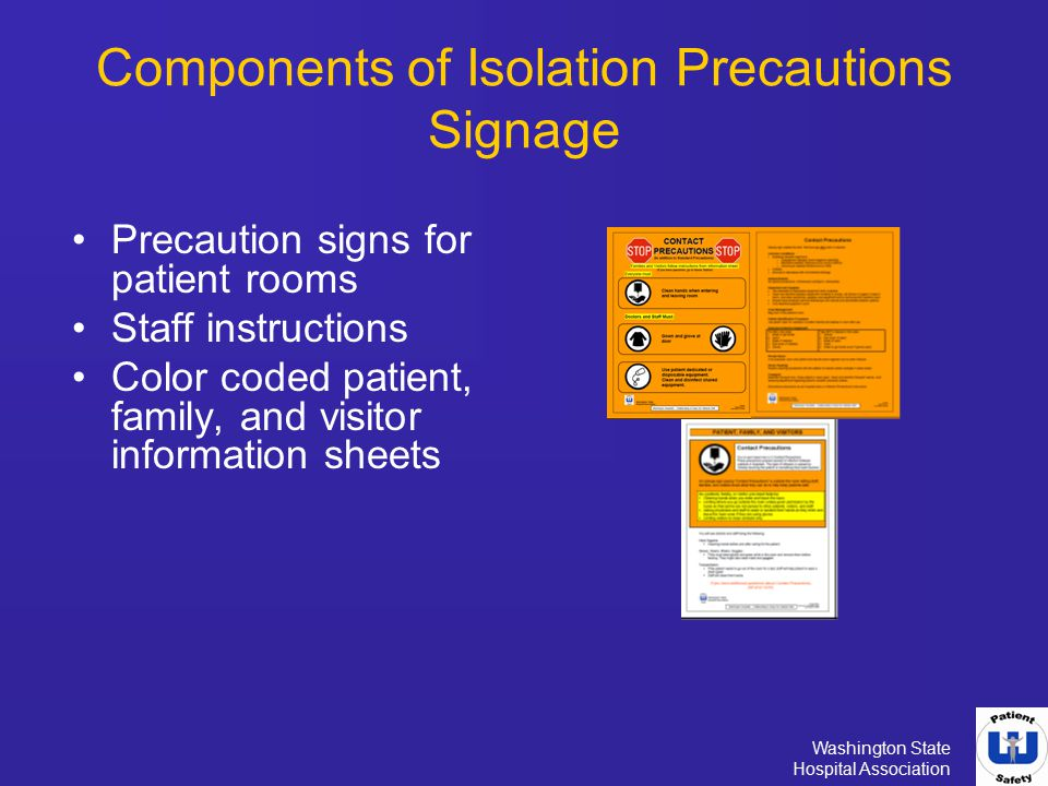 Components of Isolation Precautions Signage