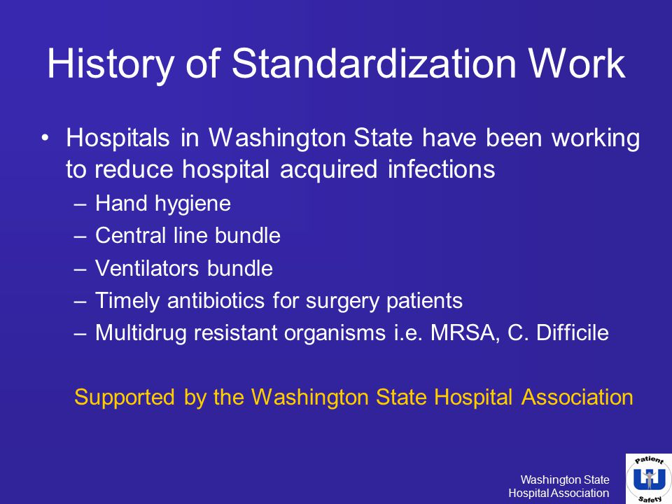 History of Standardization Work