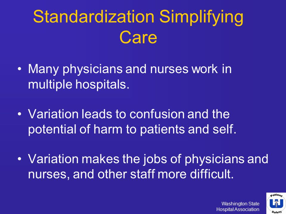 Standardization Simplifying Care