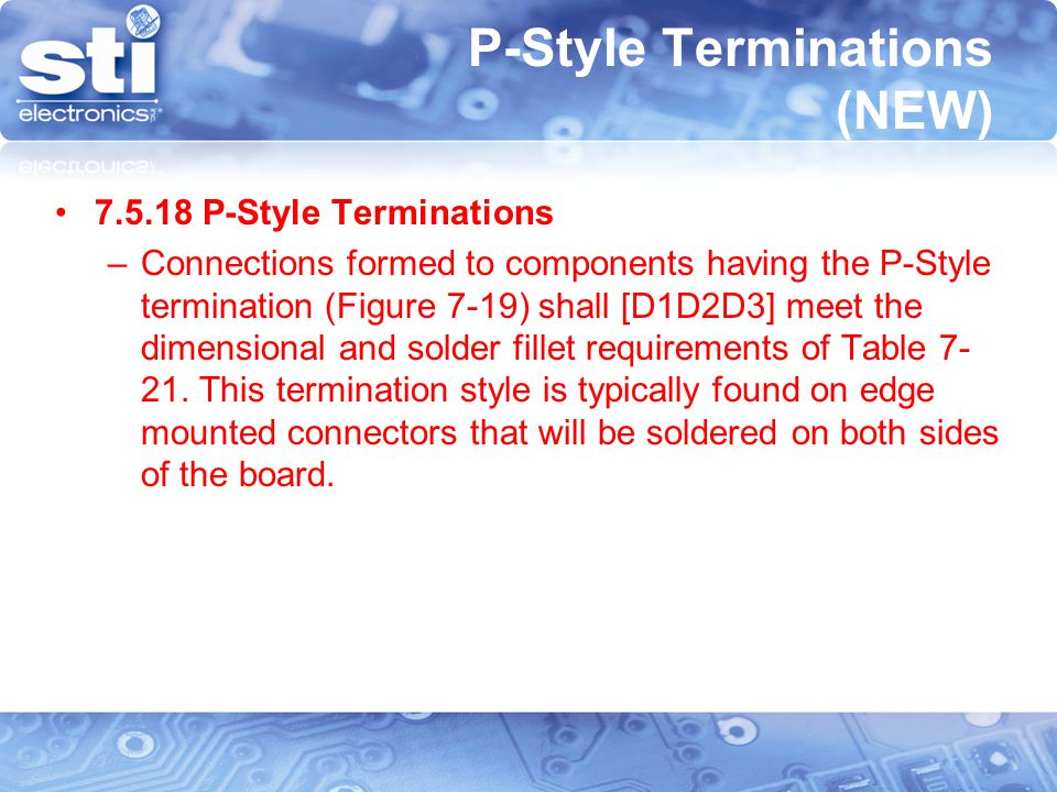 P-Style Terminations (NEW)