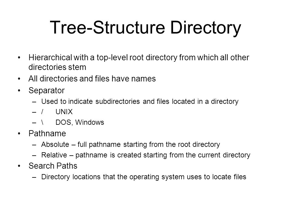 Tree-Structure Directory