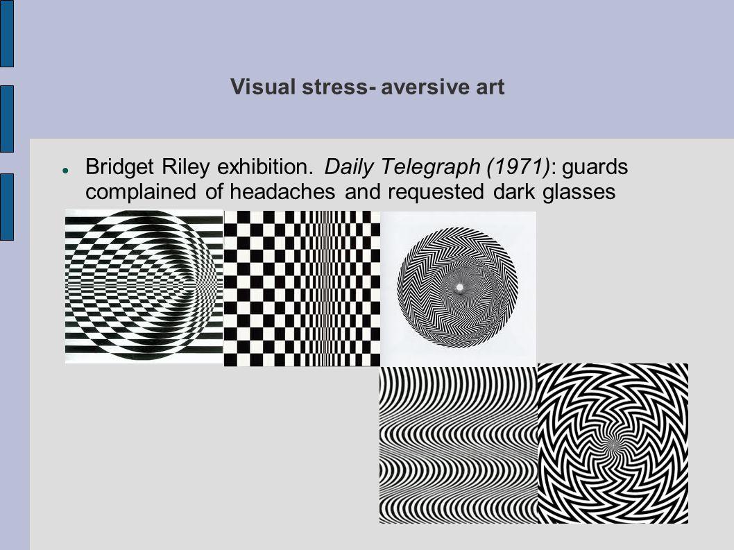 Visual stress- aversive art