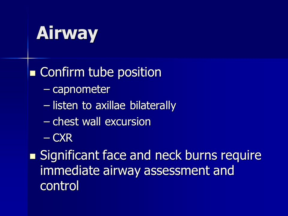 Airway Confirm tube position