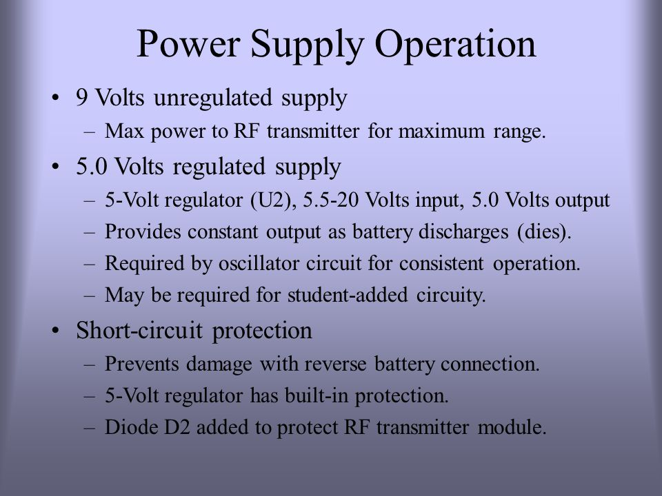 Power Supply Operation