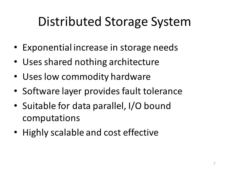 Distributed Storage System