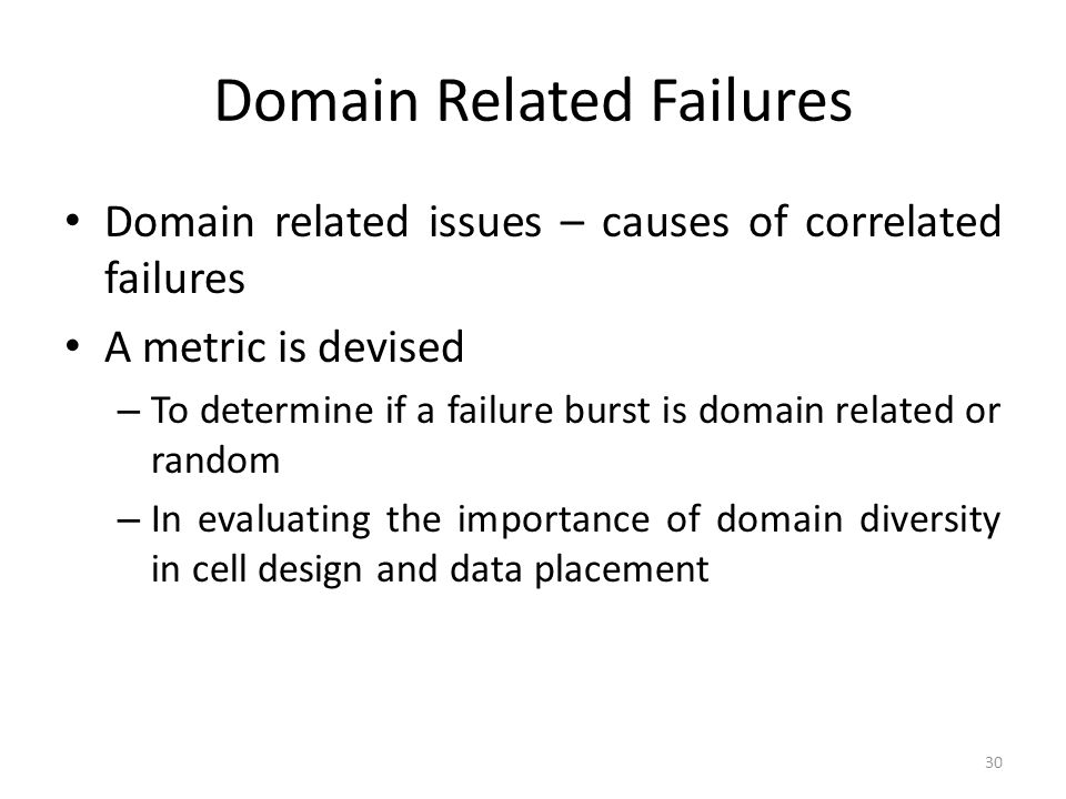 Domain Related Failures