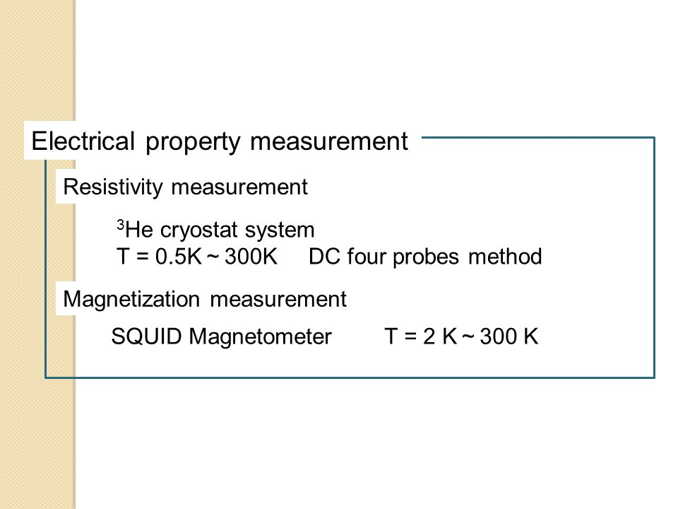 Electrical property measurement