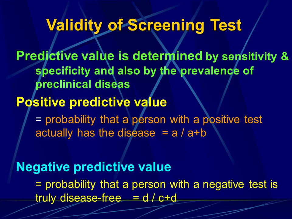 Validity of Screening Test