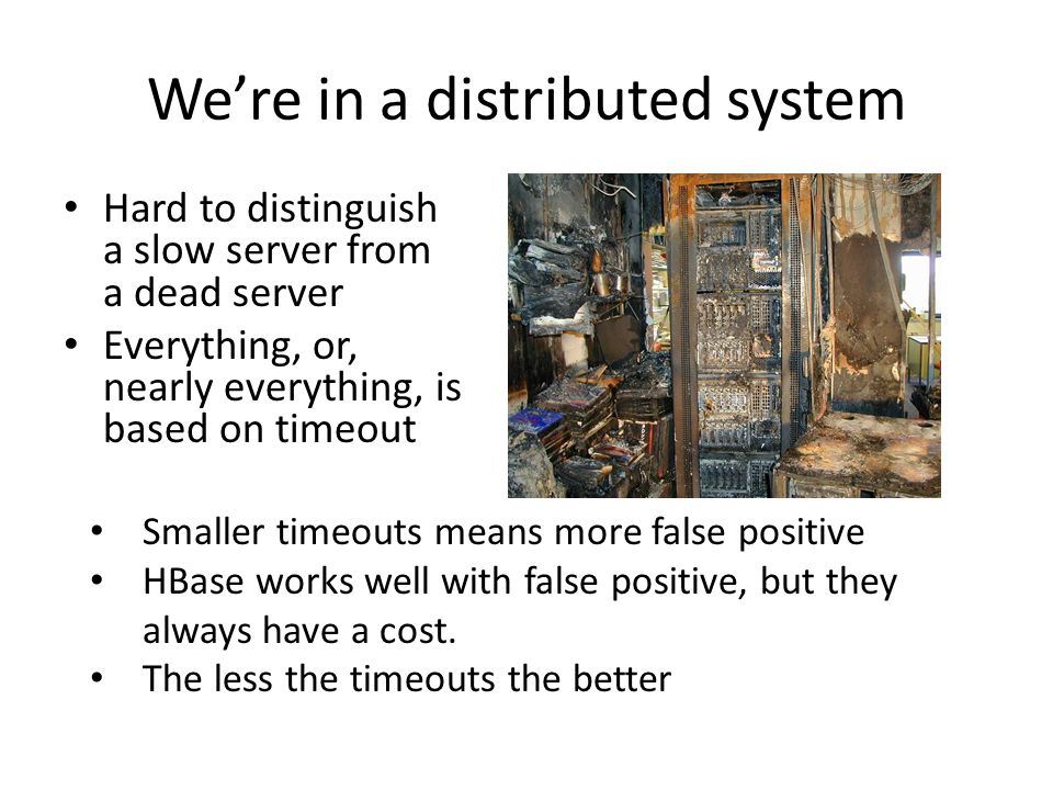 We're in a distributed system