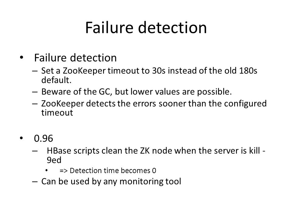 Failure detection Failure detection 0.96