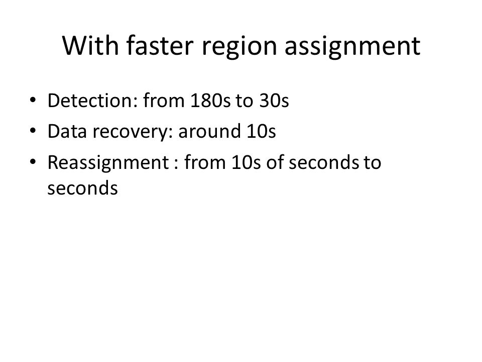 With faster region assignment