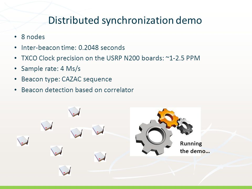 Distributed synchronization demo