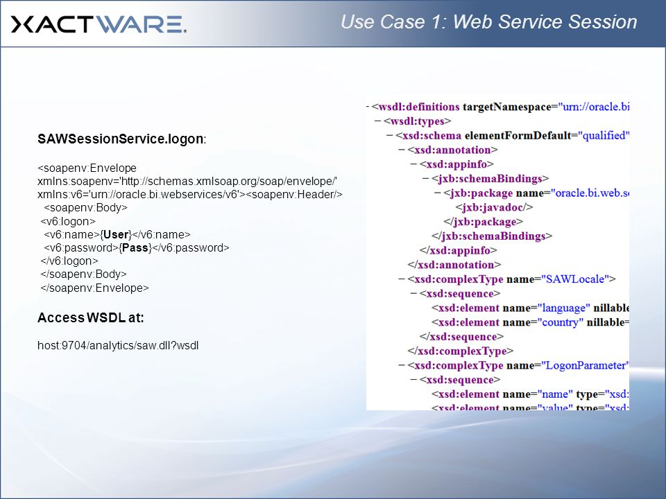 Use Case 1: Web Service Session