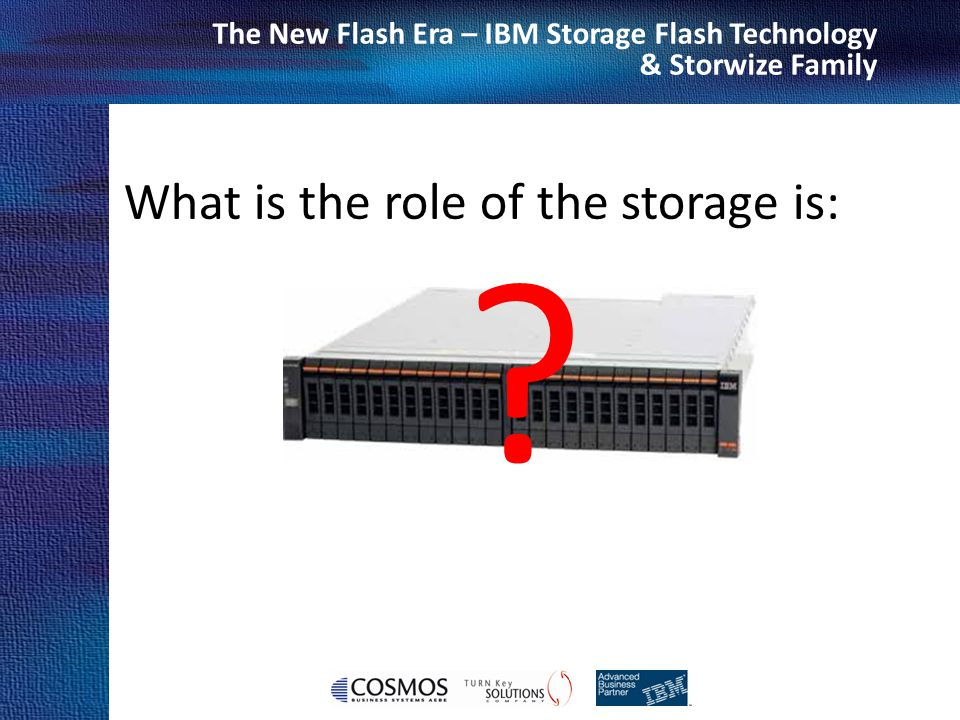 What is the role of the storage is: