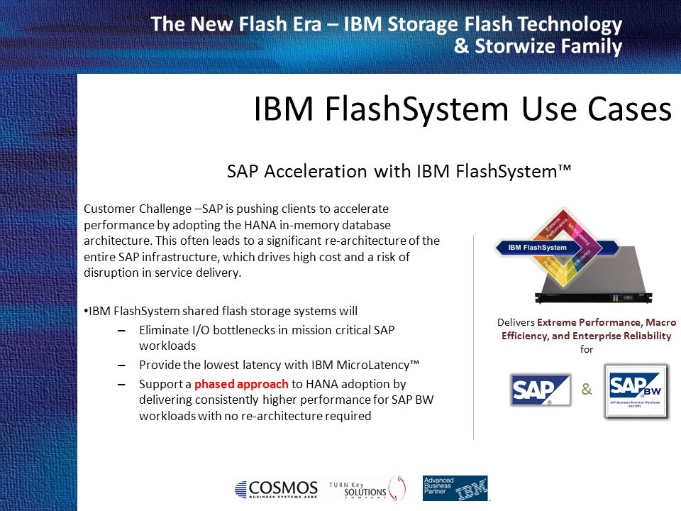 SAP Acceleration with IBM FlashSystem™