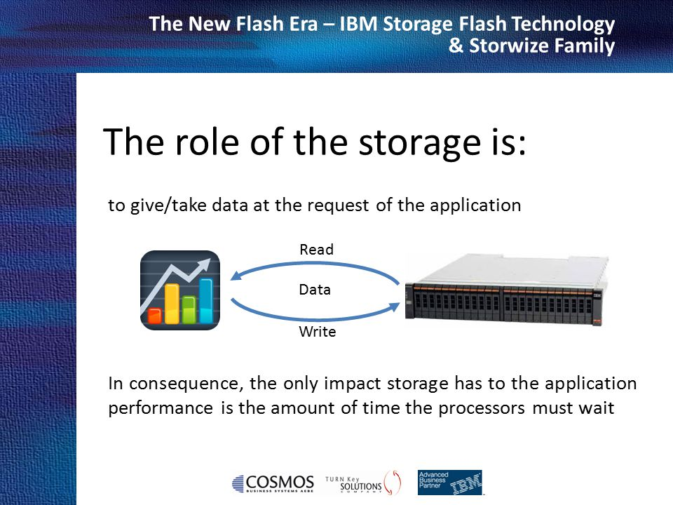 The role of the storage is: