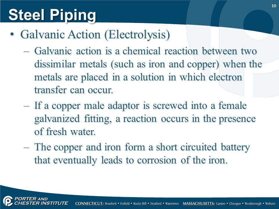Steel Piping Galvanic Action (Electrolysis)