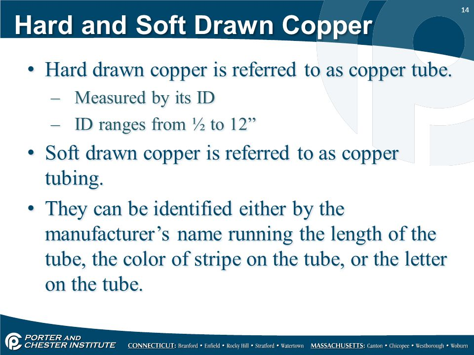Hard and Soft Drawn Copper