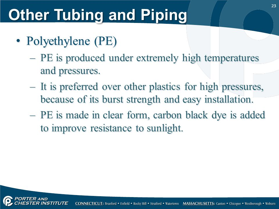 Other Tubing and Piping
