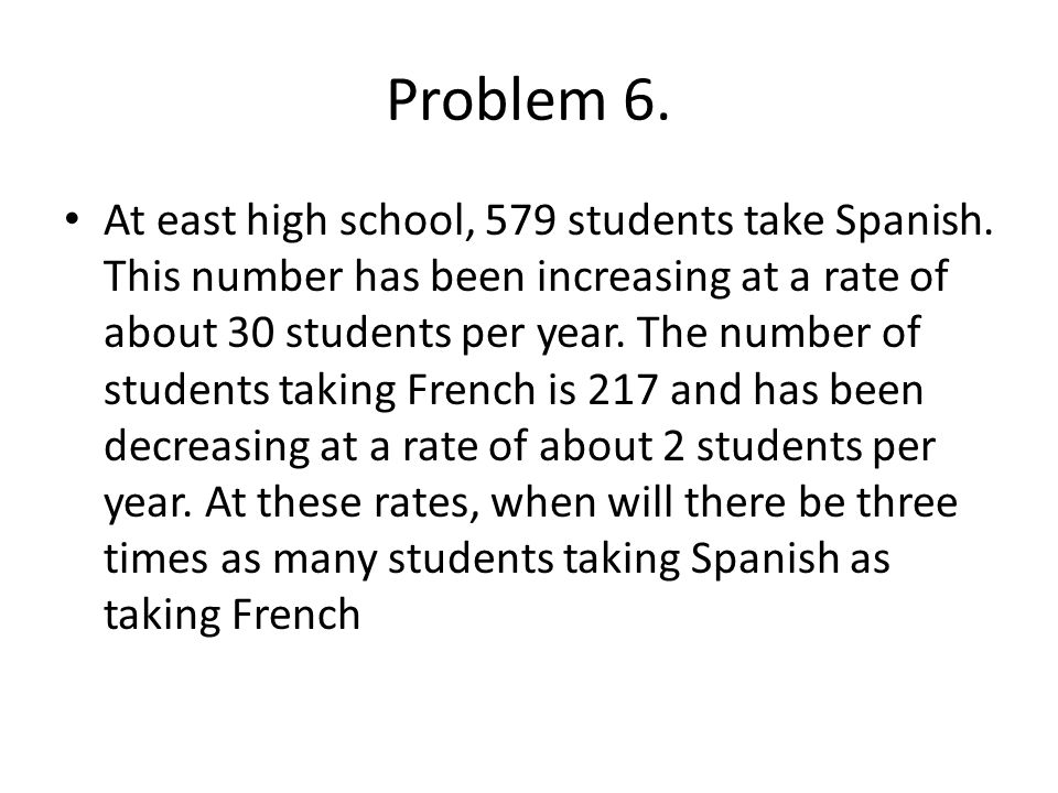 Problem 6.