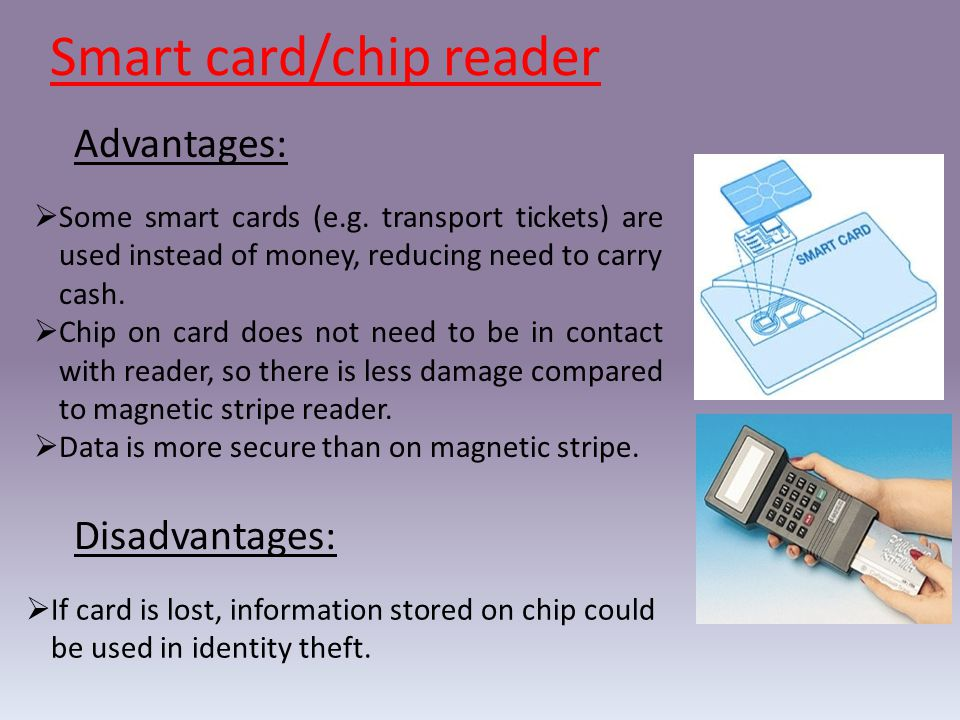 Smart card/chip reader