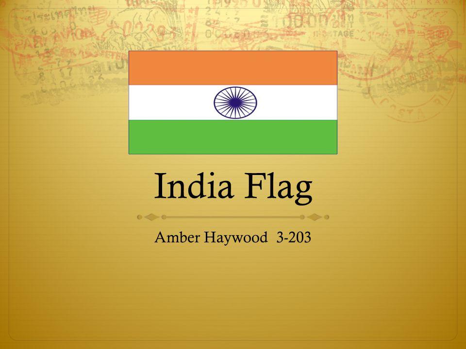India Flag Amber Haywood 3-203