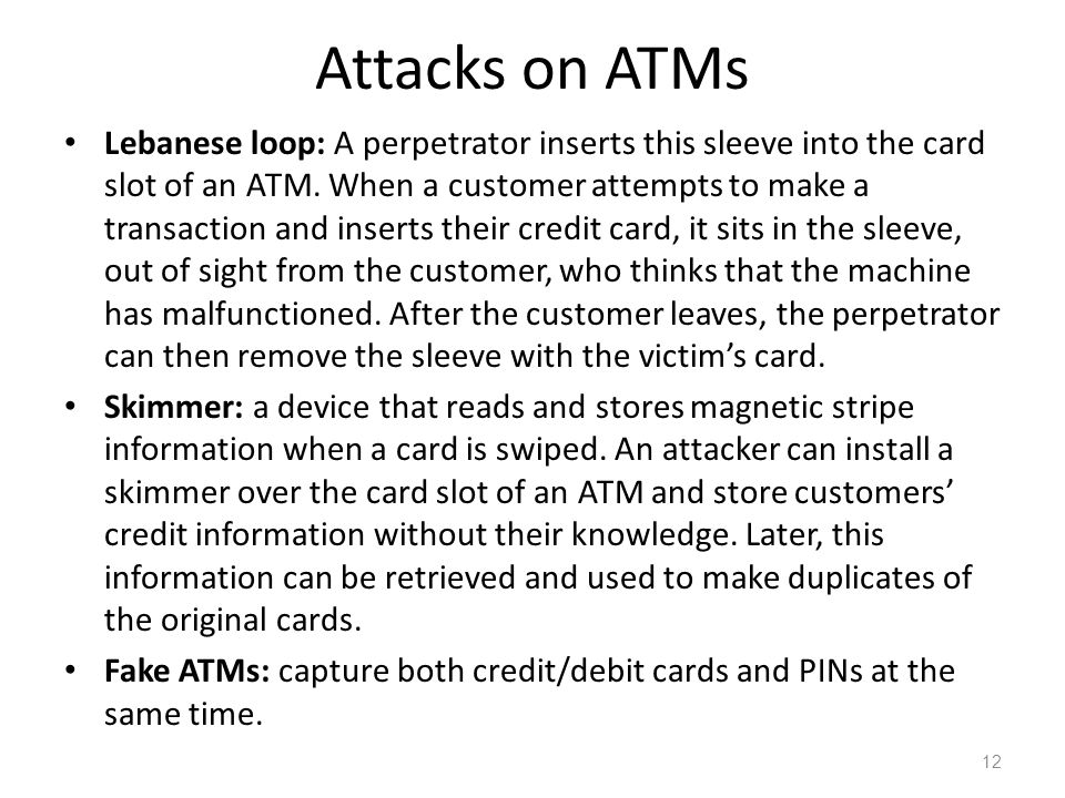 Attacks on ATMs