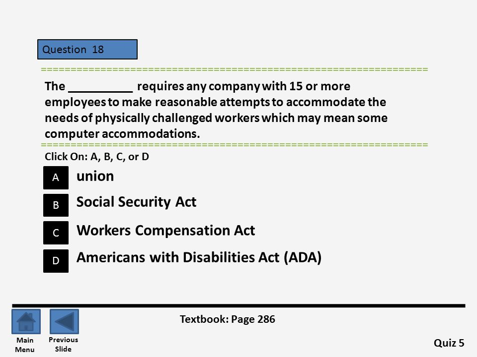 Workers Compensation Act