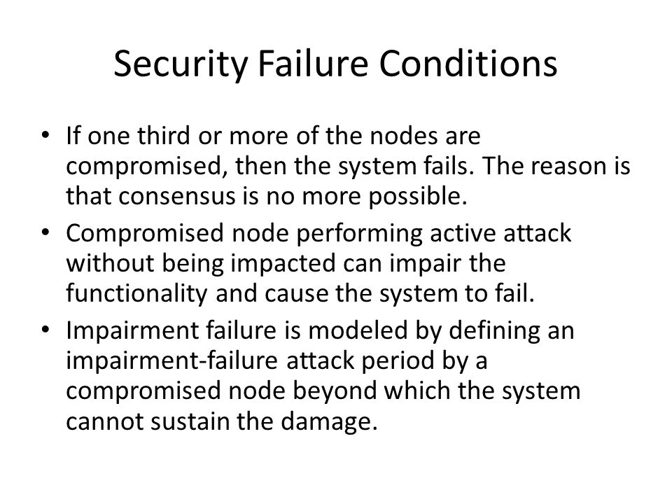 Security Failure Conditions