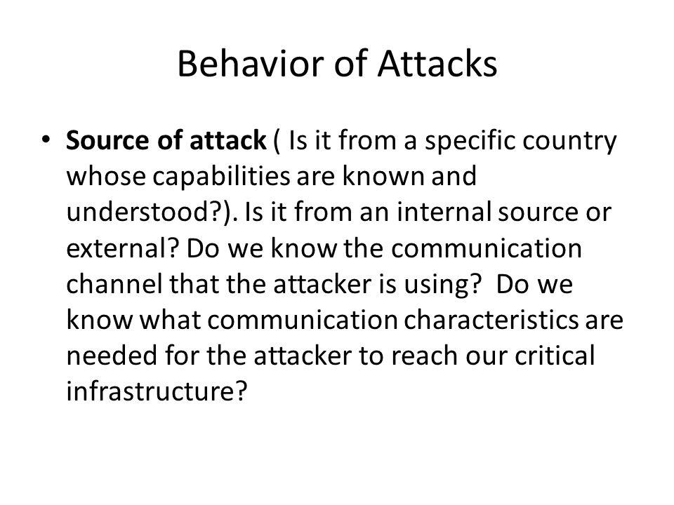 Behavior of Attacks
