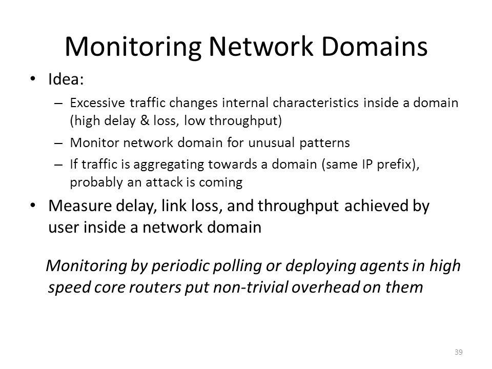 Monitoring Network Domains