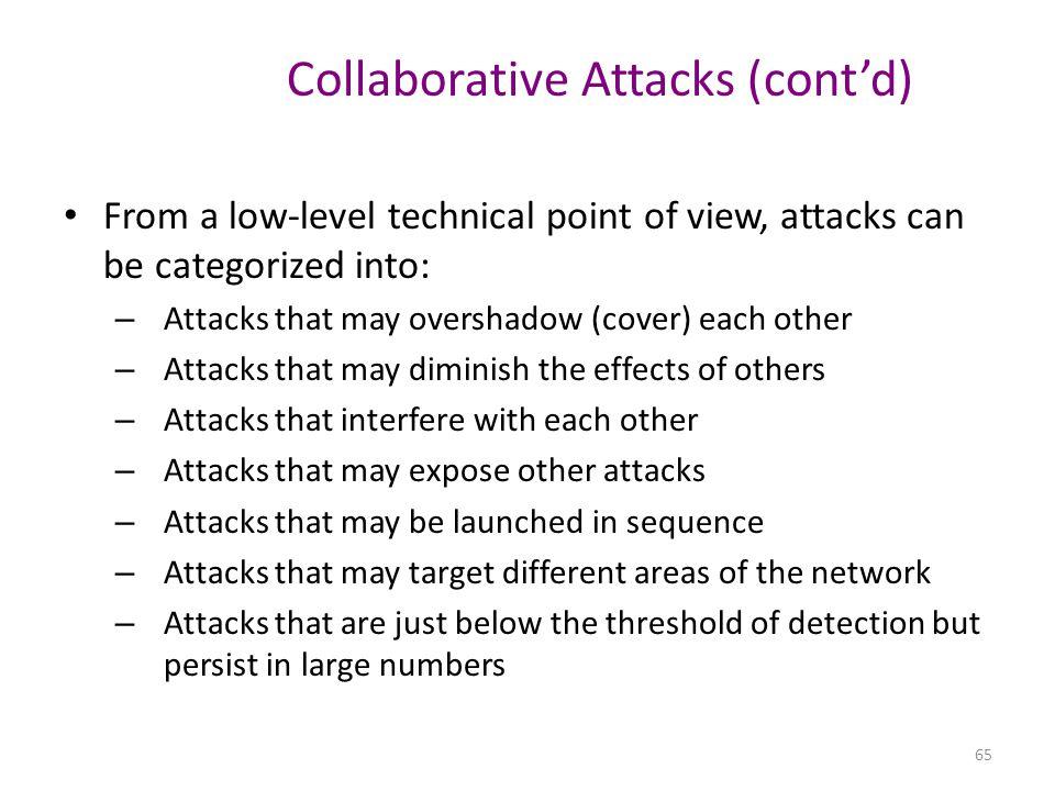Collaborative Attacks (cont'd)