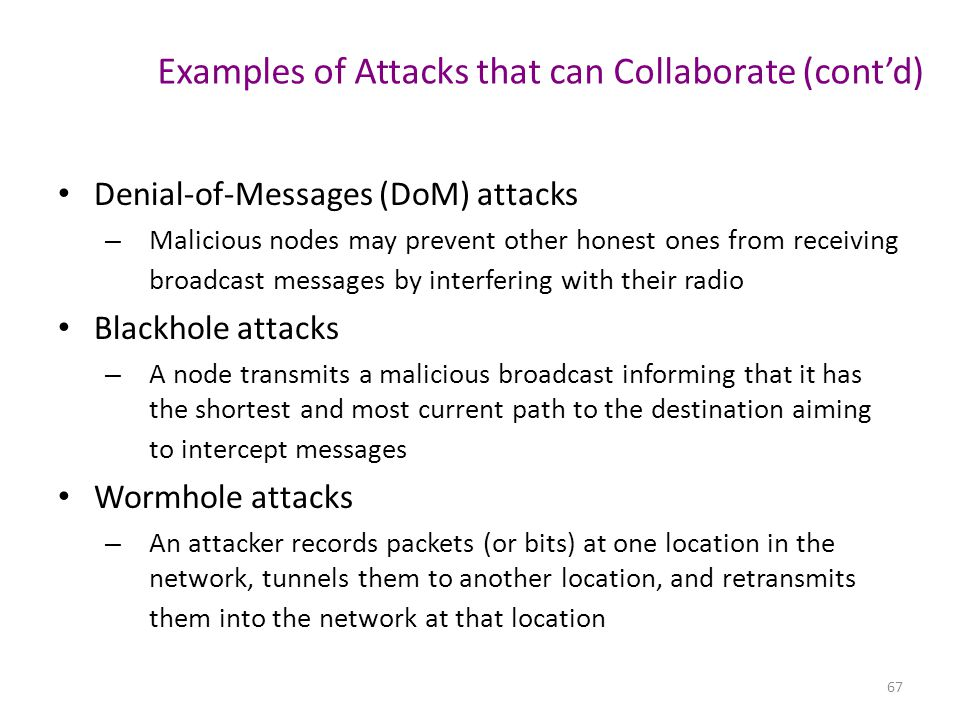 Examples of Attacks that can Collaborate (cont'd)