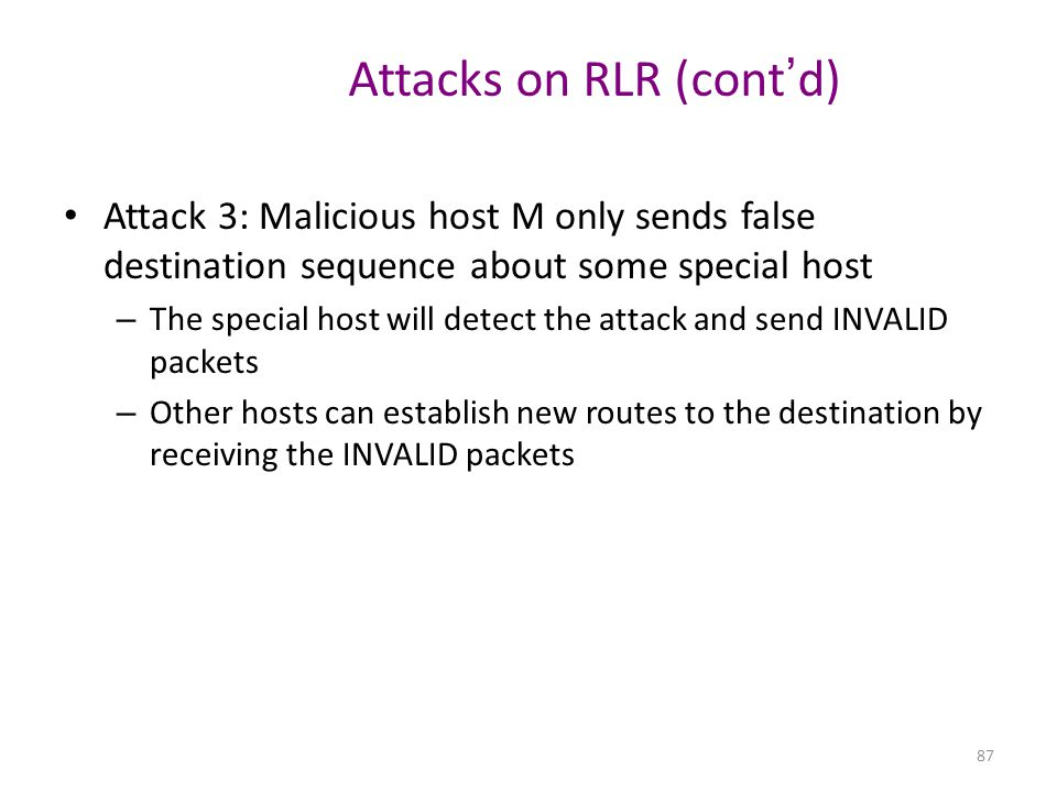 Attacks on RLR (cont'd)