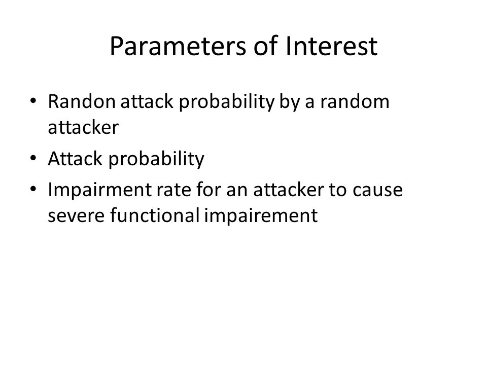Parameters of Interest